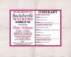 004 bachelorette party itinerary template free ideas bachelorette weekend itinerary template