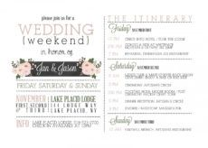 014 template ideas wedding welcome bag itinerary rare free wedding welcome itinerary template pdf