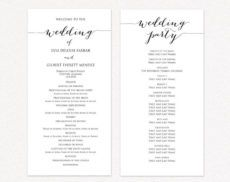 046 wedding ceremony program template free templates of wedding ceremony itinerary template excel