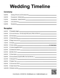 editable 009 wedding reception itinerary template day outstanding wedding reception itinerary template doc