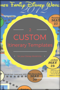 editable wdw itinerary templates  free & printable  available in disney world itinerary template