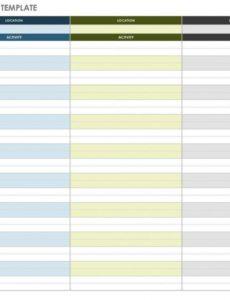 free free itinerary templates  smartsheet daily vacation itinerary template doc
