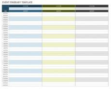free free itinerary templates  smartsheet day by day travel itinerary template excel