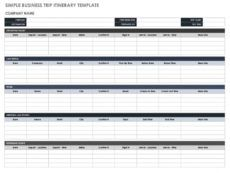 free free itinerary templates  smartsheet group travel itinerary template example