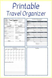 free free printable travel planner in 2020  travel planner school trip itinerary template excel