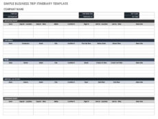 free itinerary templates  smartsheet event planning itinerary template doc