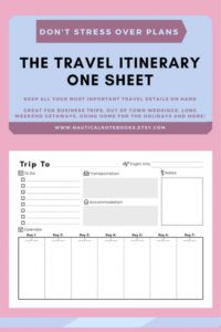 free travel itinerary template  family travel planner travel agent itinerary template word