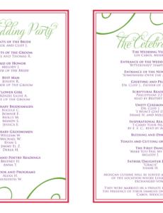 free wedding itinerary templates free  wedding reception wedding party itinerary template