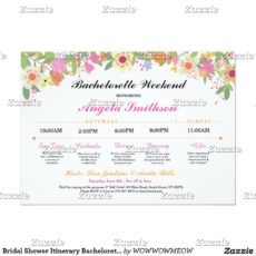 printable bridal shower itinerary bachelorette schedule  zazzle bridal shower itinerary template word