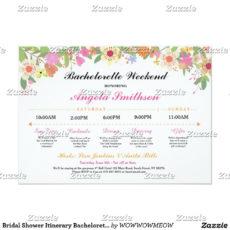 printable bridal shower itinerary bachelorette schedule  zazzle bridal shower itinerary template word