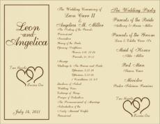 printable free printable wedding programs templates   sample wedding wedding ceremony itinerary template example
