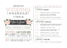 printable wedding weekend itinerary  google search  wedding weekend destination wedding weekend itinerary template doc
