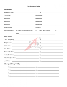sample wedding ceremony outline examples  wedding ceremony outline wedding ceremony itinerary template