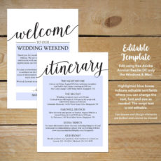 sample wedding itinerary template  printable wedding welcome destination wedding weekend itinerary template excel