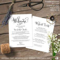sample wedding weekend itinerary wedding itinerary welcome bag wedding welcome bag itinerary template doc