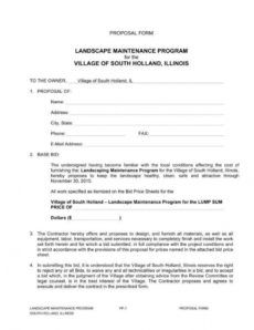 9 importance of landscaping proposals in business  word landscape maintenance proposal template excel