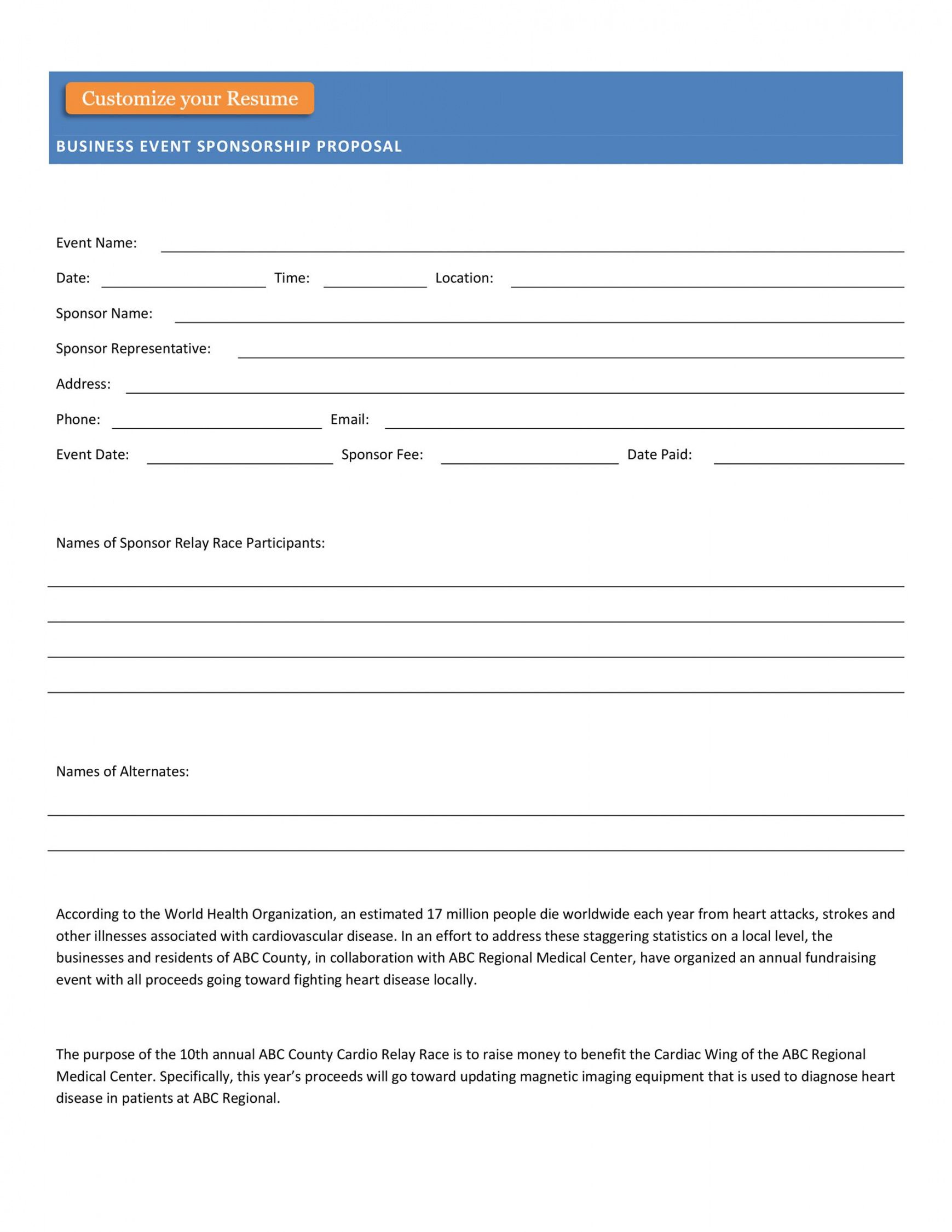 editable 38 best event proposal templates & free examples  templatelab best event sponsorship proposal template