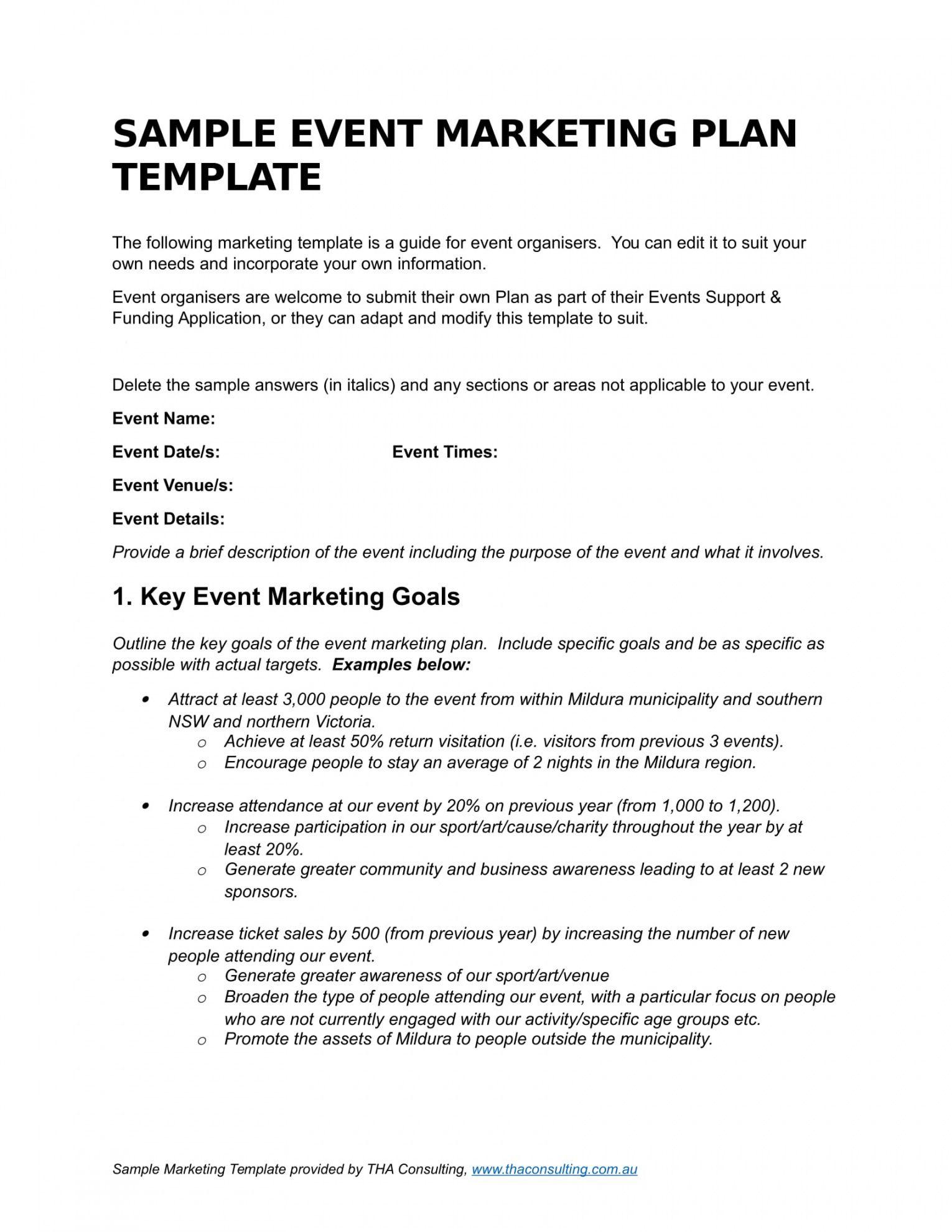 editable 9 event marketing plan examples  pdf doc  examples marketing plan proposal template word