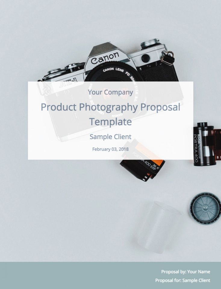 editable a product photography proposal and template to win clients photography bid proposal template pdf