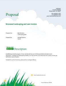 editable lawn care and landscaping services proposal  5 steps landscape maintenance proposal template doc