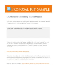 editable lawn care contract proposal  fill online printable landscape maintenance proposal template excel