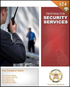 editable security services proposal template  startasecuritycompany service contract proposal template example