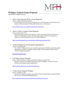 editable writing a federal grant proposal federal proposal template