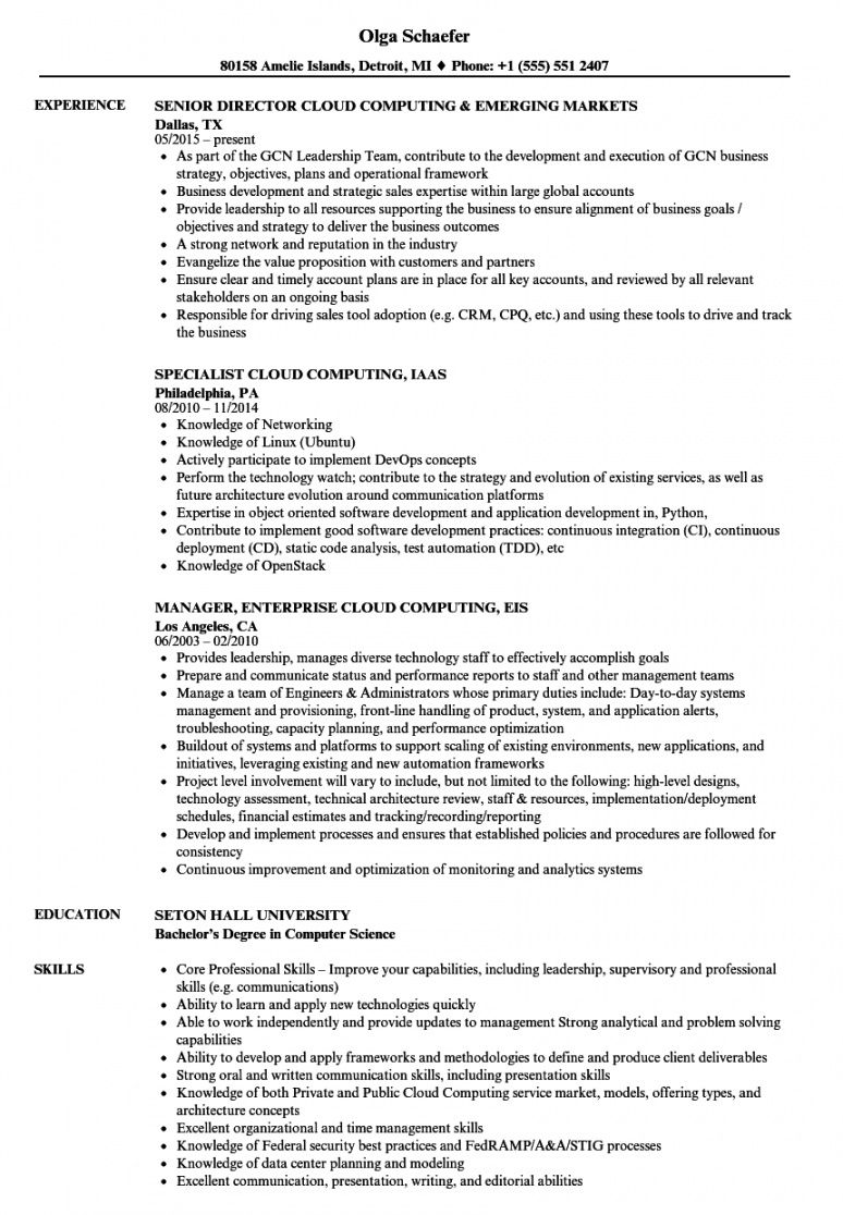 free cloud computing resume samples  velvet jobs cloud services proposal template pdf