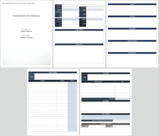 free free bid proposal templates  smartsheet photography bid proposal template doc