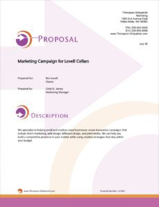 free marketing campaign services sample proposal  5 steps marketing campaign proposal template doc