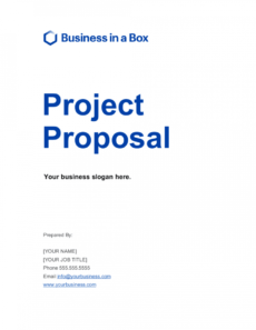 free project proposal template  by businessinabox™ business project proposal template doc