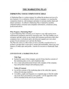 printable 30 professional marketing plan templates  templatelab marketing plan proposal template