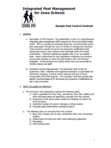 printable pest control proposal pdf  fill online printable fillable service contract proposal template