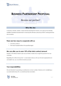 sample 12 business partnership proposal examples in pdf  ms word business partner proposal template pdf