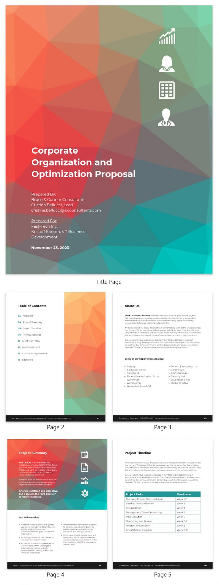 sample 31 consulting proposal templates to close deals  venngage executive search proposal template pdf