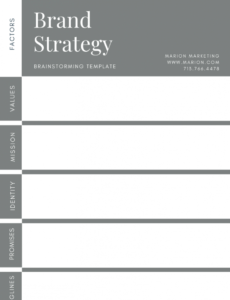 sample a guide to developing a brand strategy with examples  free brand strategy proposal template doc