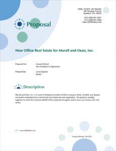 sample commercial real estate broker proposal  5 steps commercial real estate proposal template example