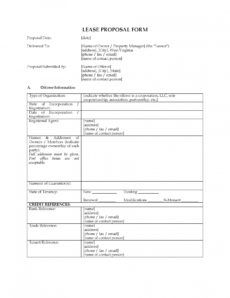 sample commercial real estate lease proposal form car rental commercial real estate proposal template excel