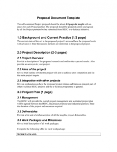 sample proposal document template scientific project proposal template
