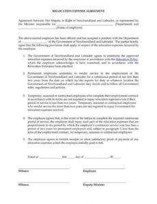 12 relocation agreement templates  pdf word  free relocation proposal template excel
