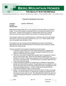 31 construction proposal template & construction bid forms pre construction proposal template