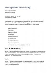 39 best consulting proposal templates free  templatelab hr consulting services proposal template doc