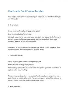 40 grant proposal templates nsf nonprofit research nonprofit fundraising proposal template