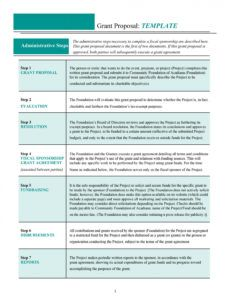 40 grant proposal templates nsf nonprofit research nonprofit fundraising proposal template doc