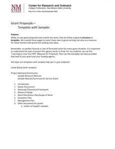 40 grant proposal templates nsf nonprofit research nonprofit fundraising proposal template word