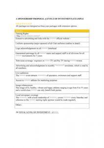 40 sponsorship letter & sponsorship proposal templates athlete sponsorship proposal template pdf