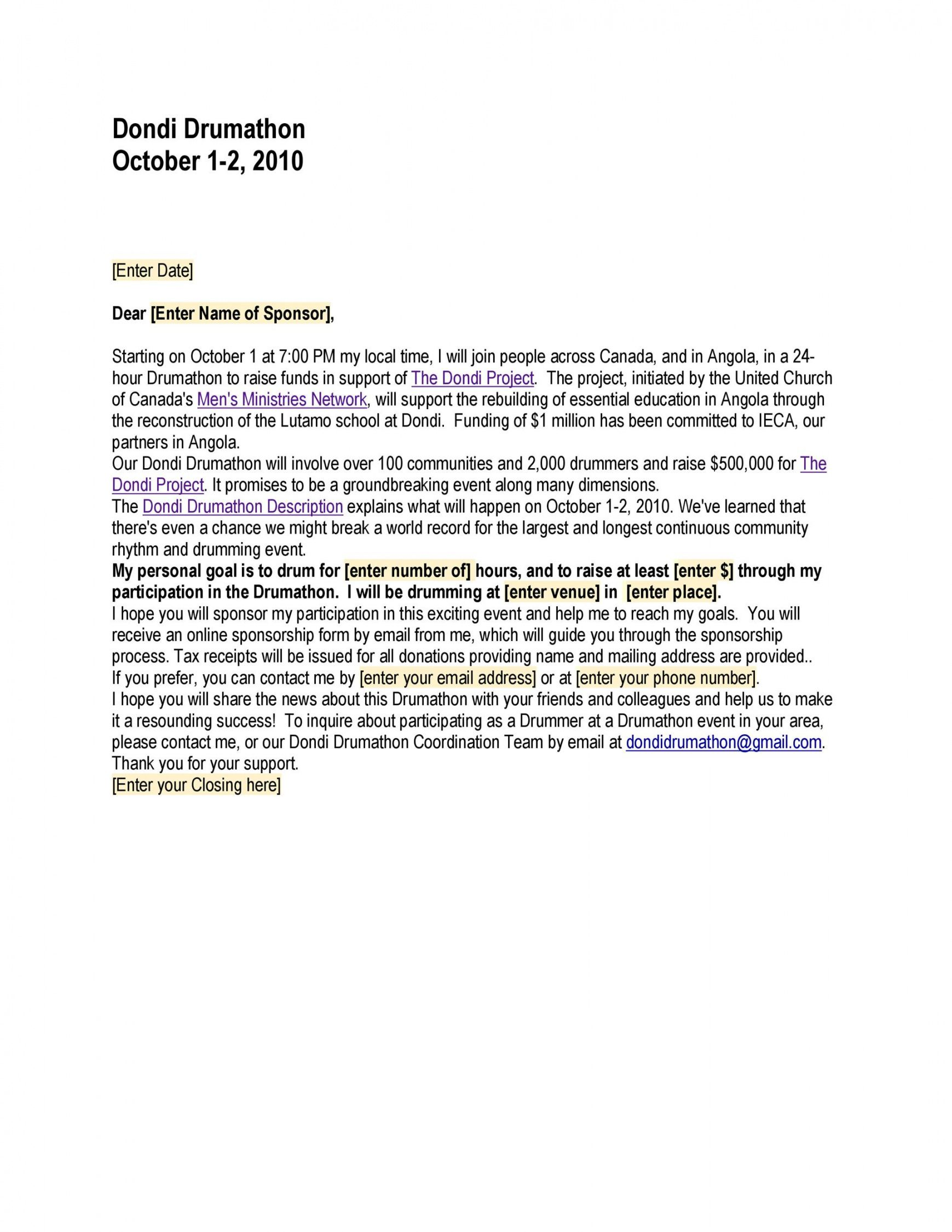 40 sponsorship letter & sponsorship proposal templates athlete sponsorship proposal template word