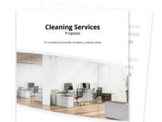 cleaning proposal template  proposable cleaning service business proposal template word