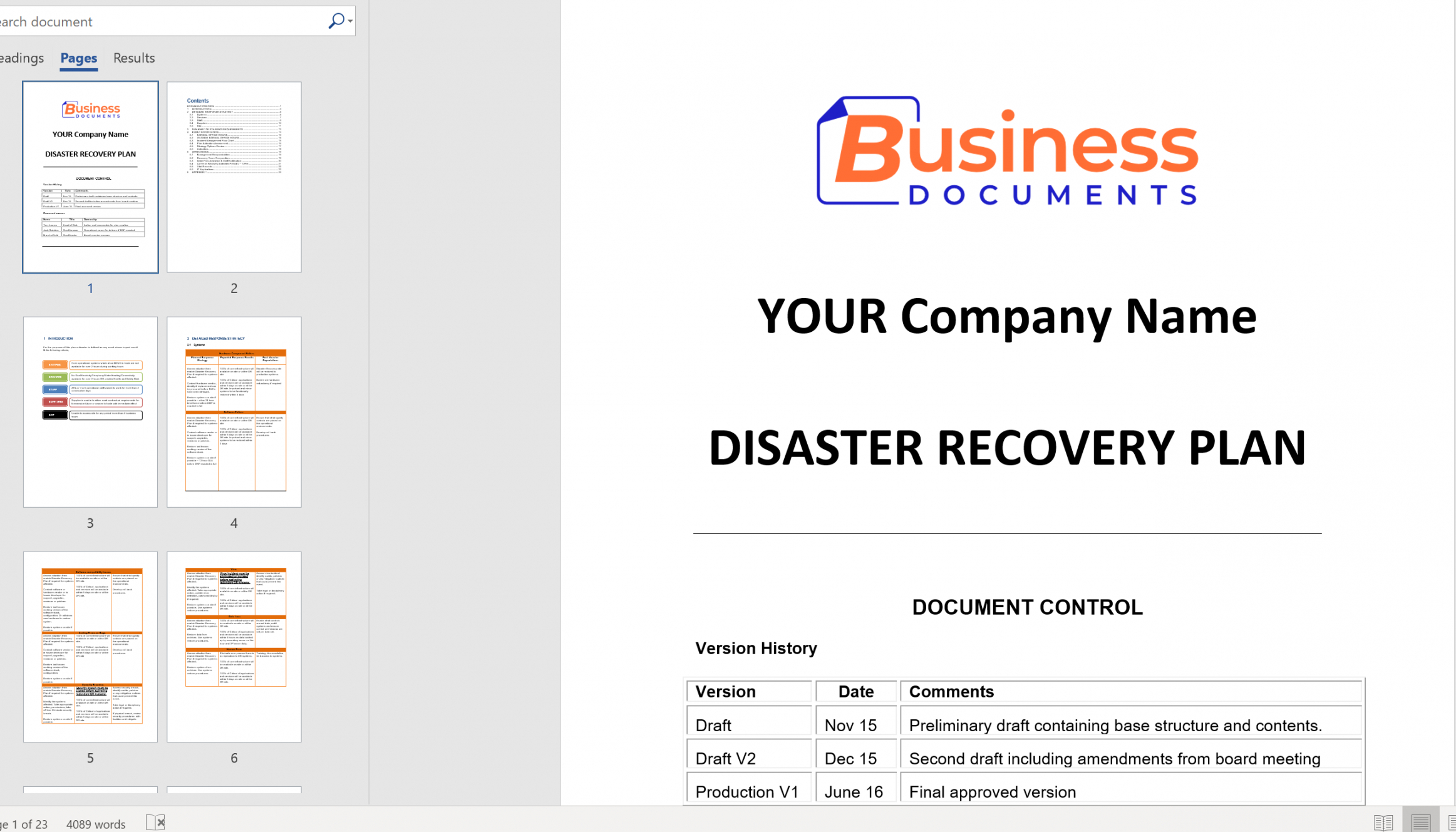 disaster recovery plan template  essential cover disaster recovery proposal template doc