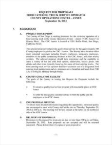 editable 10 how to write a catering proposal  free word pdf format catering business proposal template